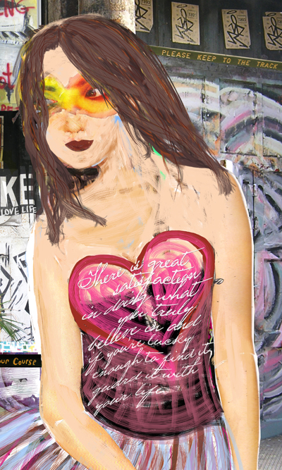Nolita-Love girl digital collage. It's a start.