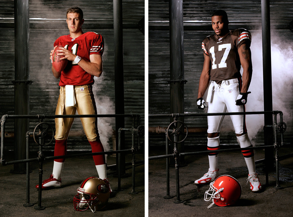 Alex Smith and Braylon Edwards  | Los Angeles, CA