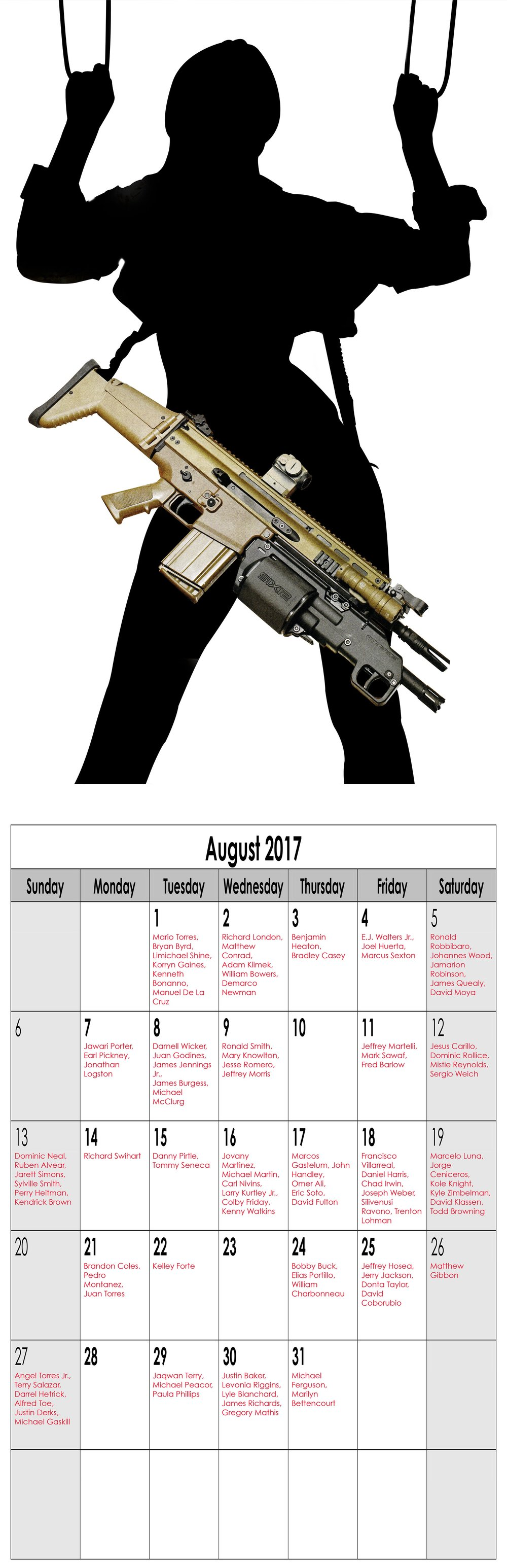 "Year in Review (Miss August), 2016, Archival Pigment Print, 11""x34"""