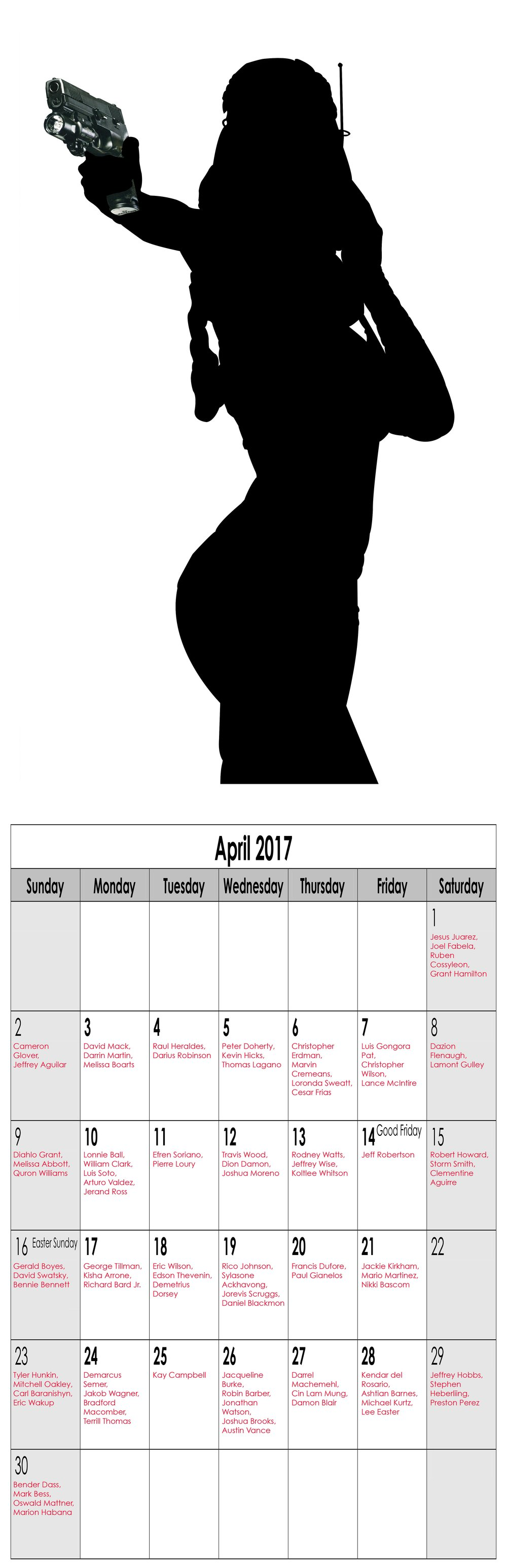 "Year in Review (Miss April), 2016, Archival Pigment Print, 11""x34"""