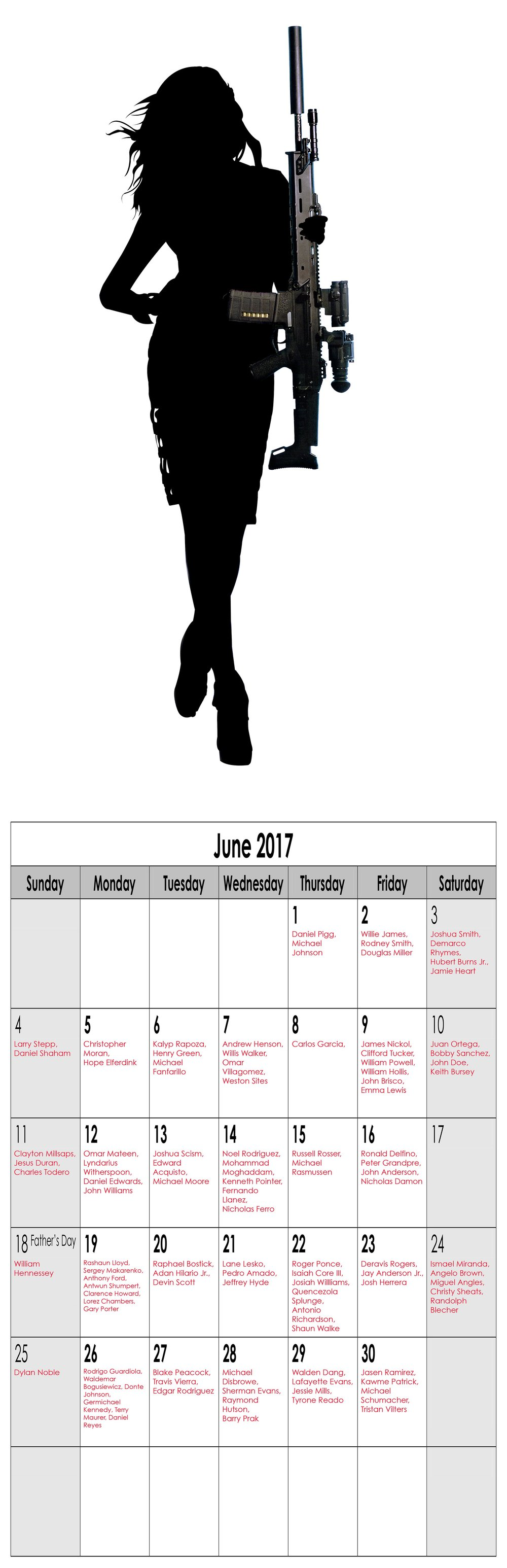 "Year in Review (Miss June), 2016, Archival Pigment Print, 11""x34"""
