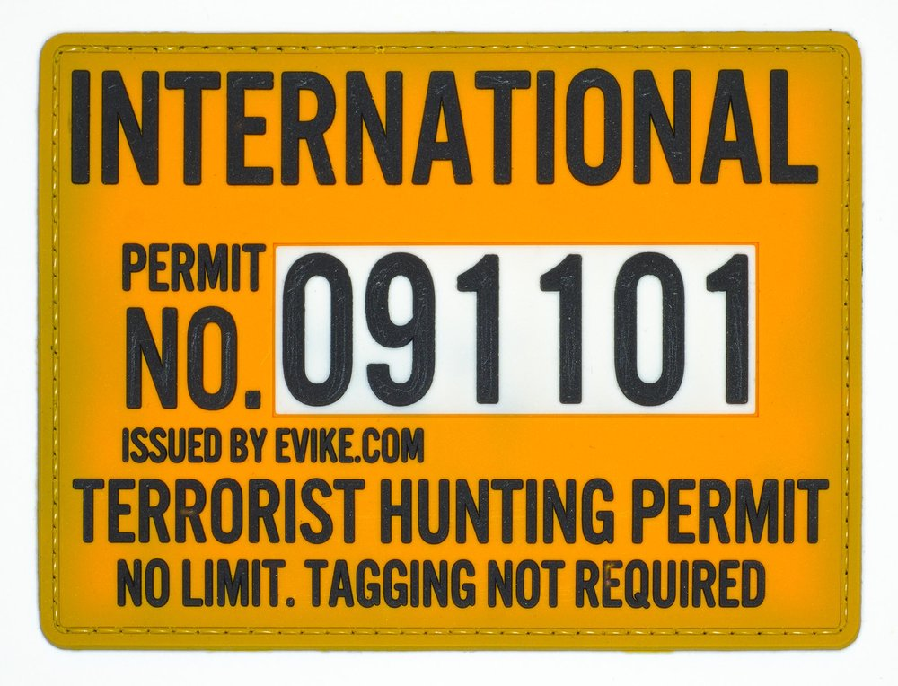 "International Terrorist Hunter, 2016, Archival Pigment Print, 22""x29"""