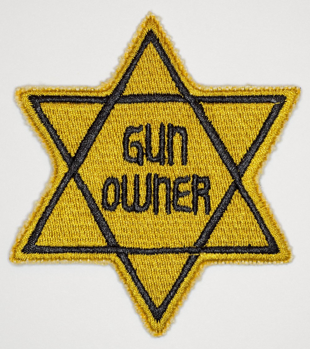 "Star of David Gun Owner, 2016, Archival Pigment Print, 24""x26"""