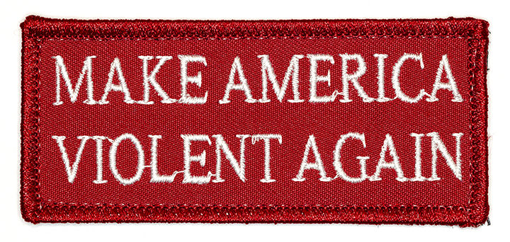 "Make America Violent Again, 2016, Archival Pigment Print, 17""x36"""