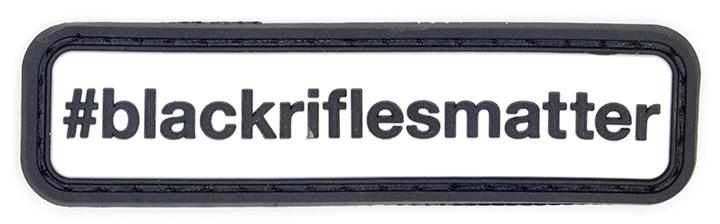 "Black Rifles Matter, 2016, Archival Pigment Print, 11""x36"""