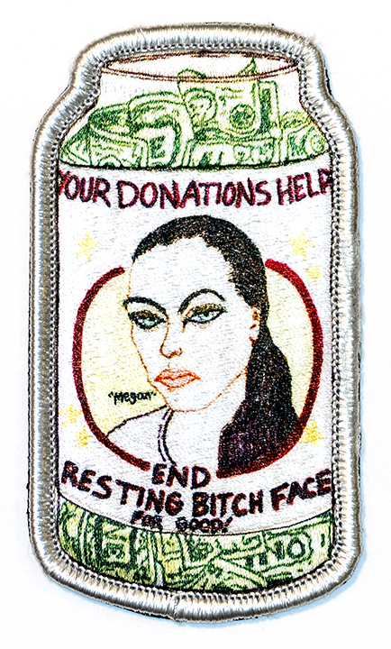 "Resting Bitch Face, 2019, Archival Pigment Print, 22"" x 36"""