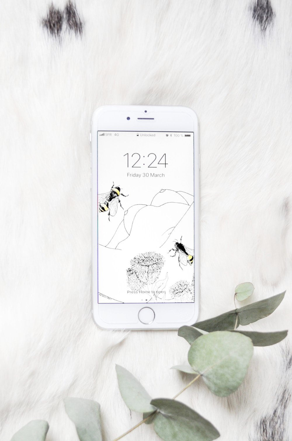 April's Lock Screen Illustration - Celebrate spring with the gift of something sumptuous to admire on your lock screen every time you look at your phone. All for the low price of free.Enter your email address below to receive a WeTransfer download link.Mildly nsfw.