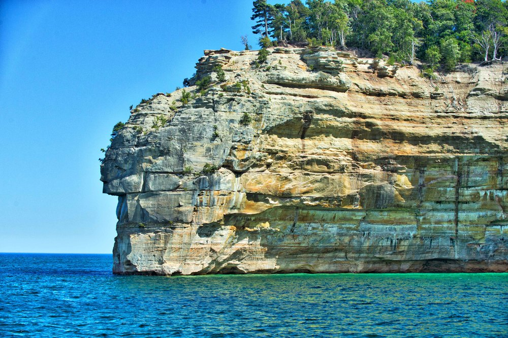 Indian Head Point, Painted Rocks National Lakeshore, Taken with Nikon D4, Nikon f2.8 70-200mm