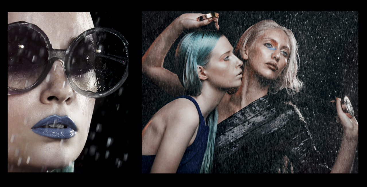 I love those two images ! Shot for Volt Magazine August 2012 . It was so much fun having the rain machine in the Hasselblad Studio , Splashing around and generally having a good time. A big thank you to all helpers making this possible …