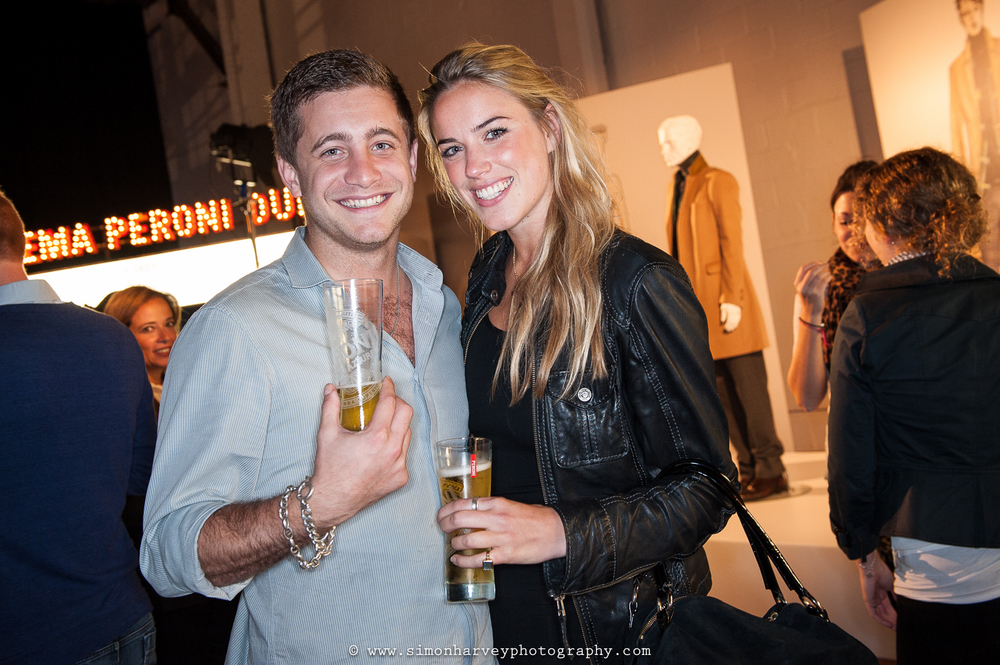 Tyrone Wood, son of Ronnie Wood, Peroni Cinema Event, London