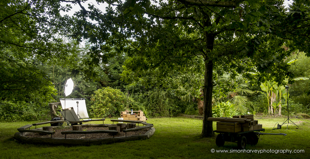 Our outdoor set-up for Community Playthings Product Photography