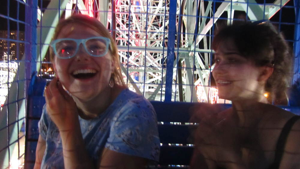 Sparkly glasses and the joy of The Wonder Wheel