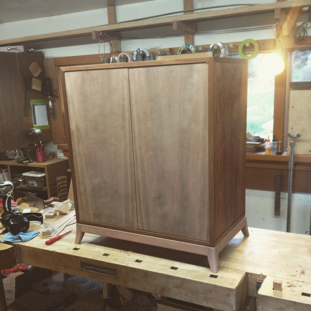 Now The Doors Have Been Fit, I Can Look To The Inside Of The Cabinet. Also,  The Base Has Been Built. I Like To Do This Before Fitting The Doors So I ...