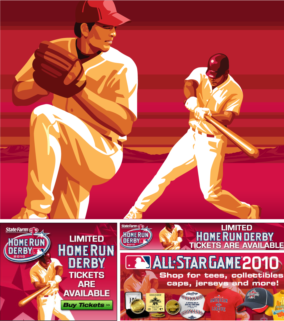 Anaheim Player Art featured at the 2010 All-Star Game, by Nancy Stall