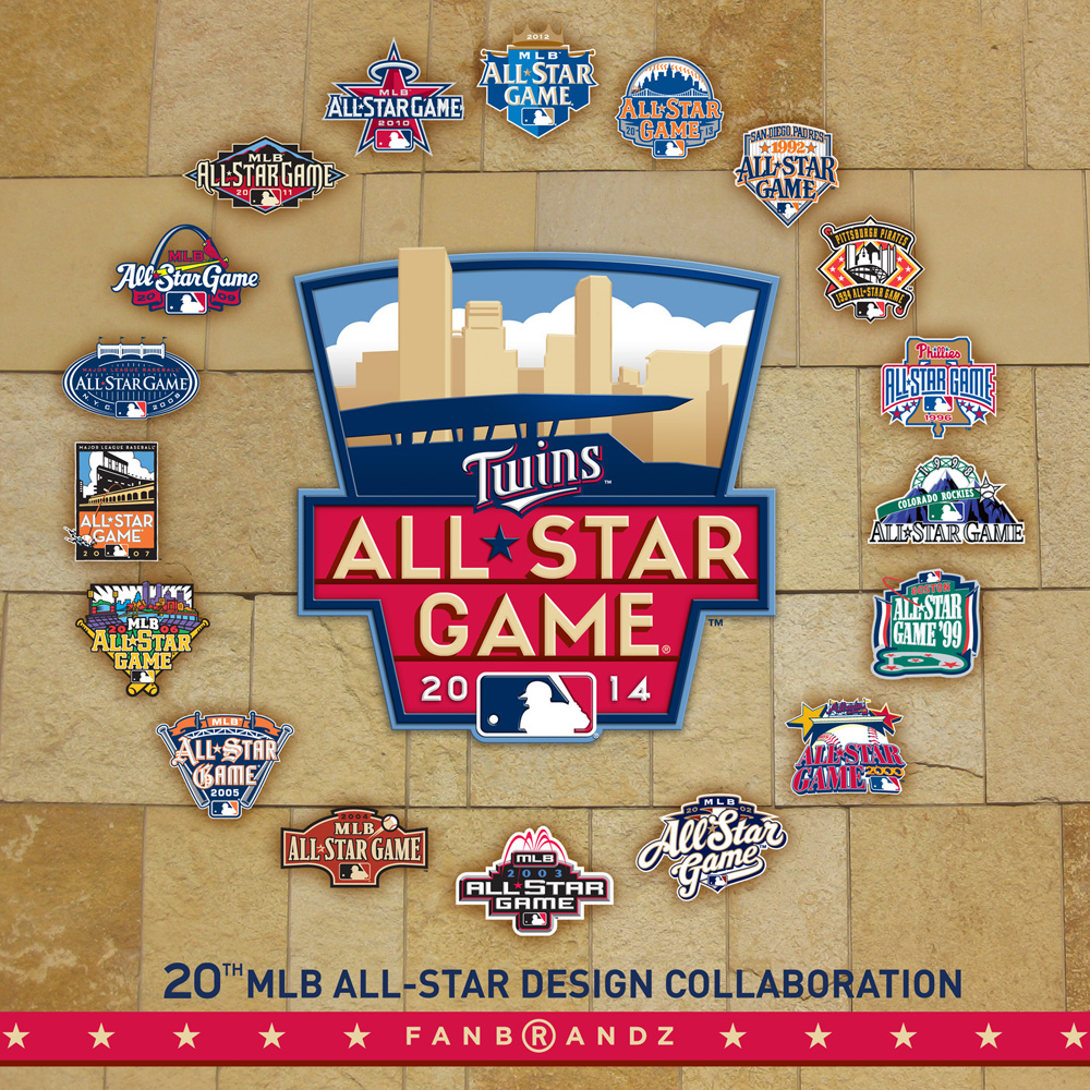 20 All-Star Game Logos from Fanbrandz  and MLB In-House Creative