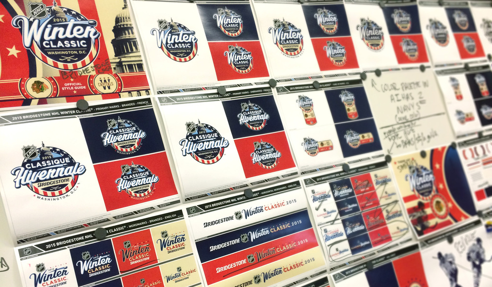 The full Style Guide development of the 2015 Winter Classic