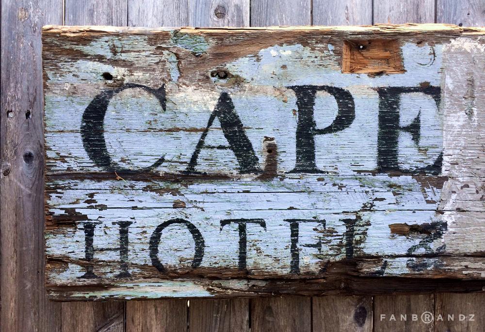 Vintage wood signage