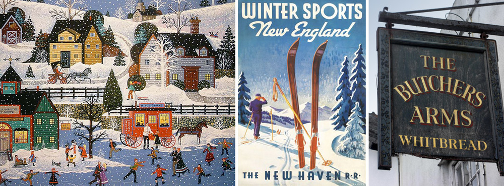 Vintage New England winters tear sheeting and inspiration