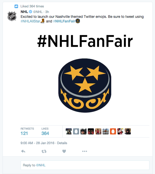 Fanbrandz also made history with its first Twitter emoji! #NHLFanFair
