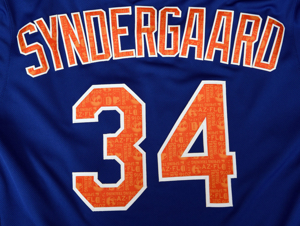 One of the central parts to the new Spring Training batting practice jerseys were the repeat patterns added to all player names and numbers.