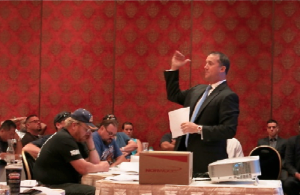 John Ferrone, Esq. provides explanation during the question and answer portion of this years CCPOA Workers' Compensation presentation.