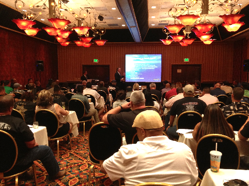 John Ferrone, Esq.  and Mark Peacock, Esq. address a full house during this years CCPOA convention in Reno, NV.
