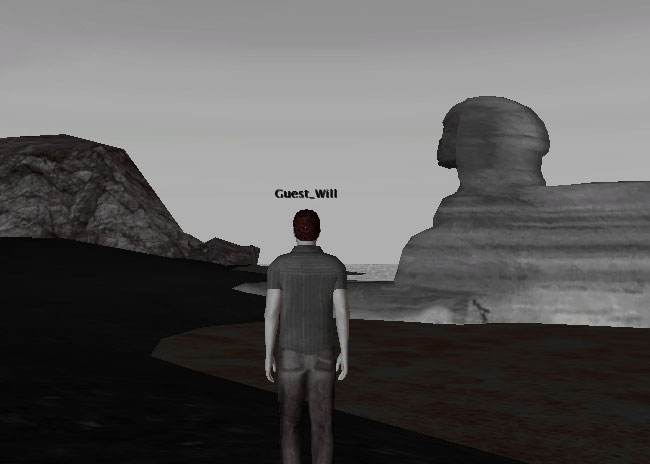 Sketchup to Twinity seems ok, Sphinx now on Beach For You