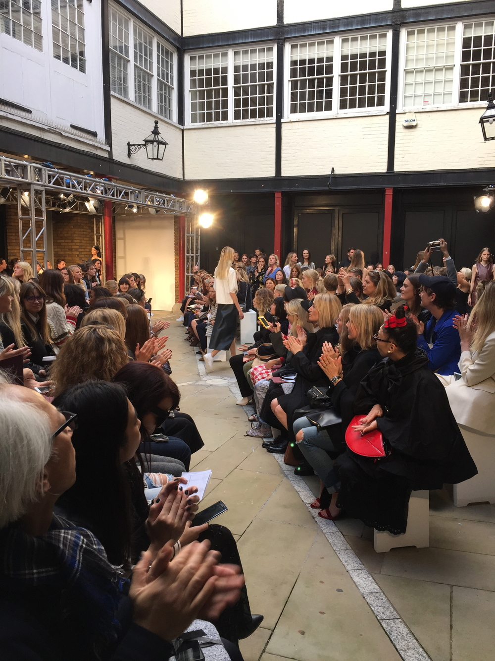 Showcalling at another inspiring show by 1205 . London Fashion week Spring Summer 2016