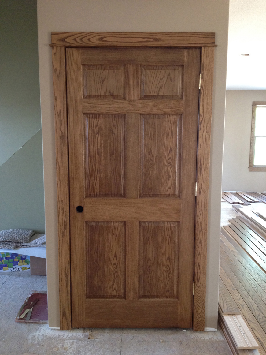 Solid oak 6 panel doors throughout the house.