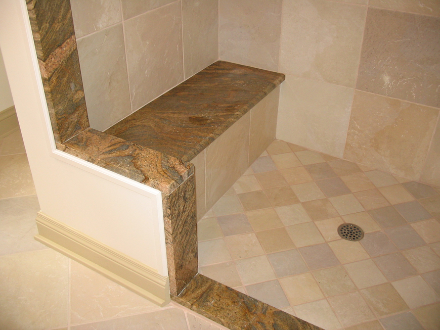 Natural stone and granite shower.