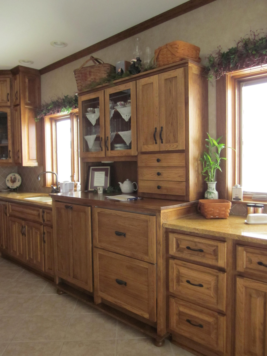 Pull-out drawer refrigerator and dishwasher with custom cabinet panels for fronts.