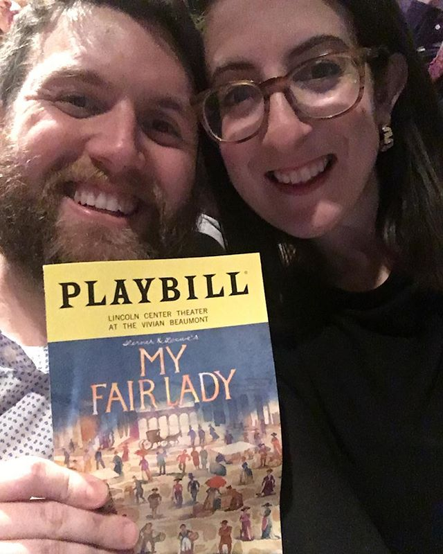 @wanderluft87 and I got an early start on Valentines Day to see one of the greatest musicals ever written. Gorgeous production too!