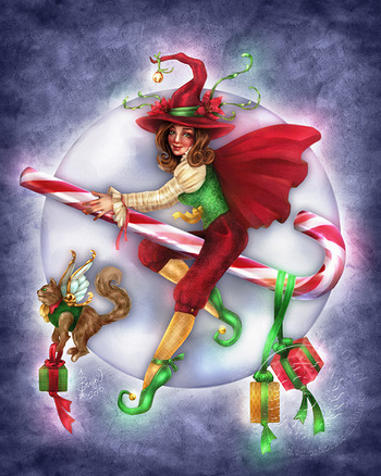 Witchy Christmas Holiday Card - Click Here.