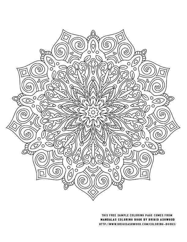 Freebie Coloring Pages — Brigid Ashwood