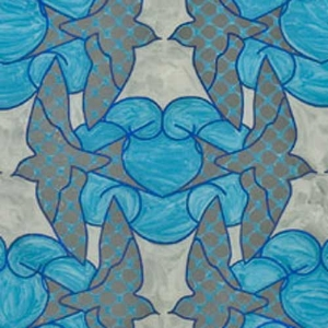 Swallows and Clouds (detail) click to view entire piece