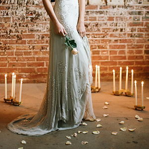 a graceful industrial wedding