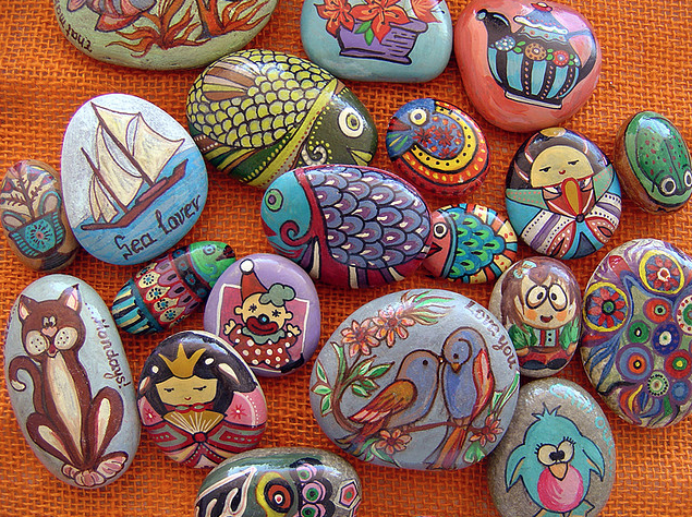 painted rocks by Anthi's point of ...crafts