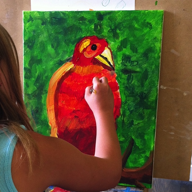 image of Art Camper from Last Summer painting on canvas
