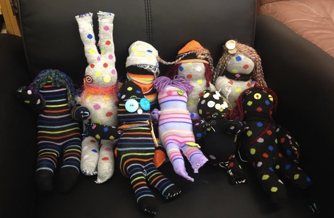sock buddies by Art Campers from Summer Camp 2014