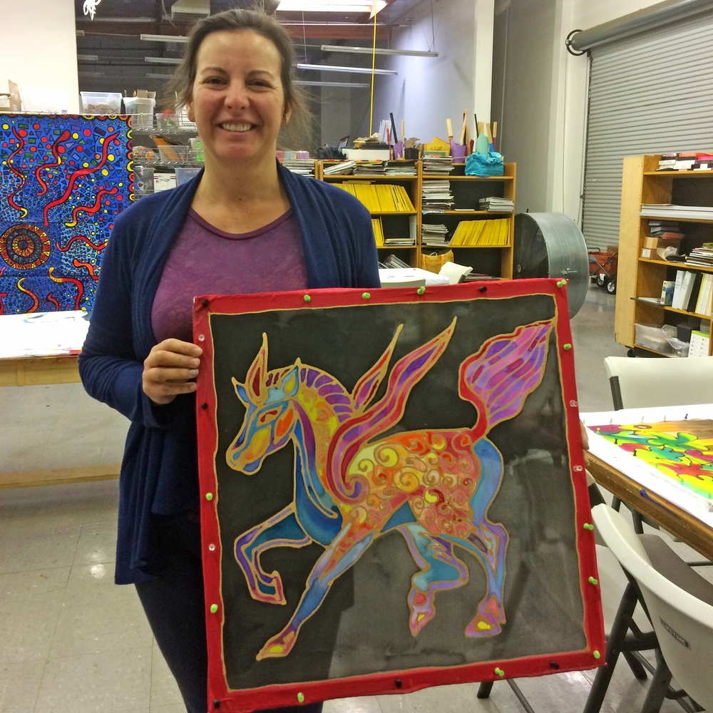 Syrah & Silk Painting April 23, 2015