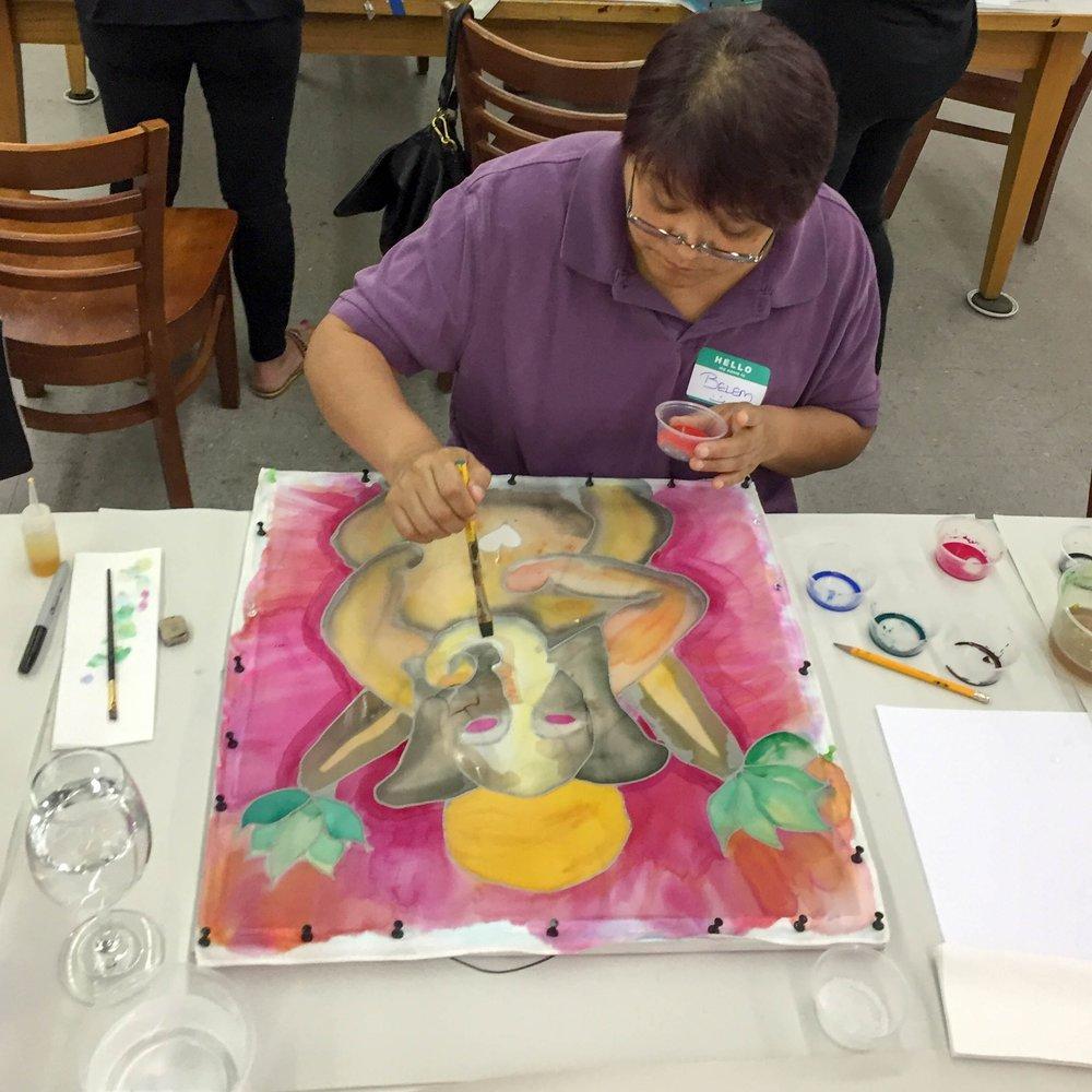 Syrah & Silk Painting June 23, 2016