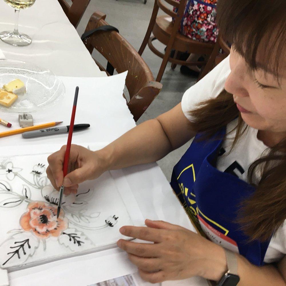 Syrah & Silk Painting June 21, 2017