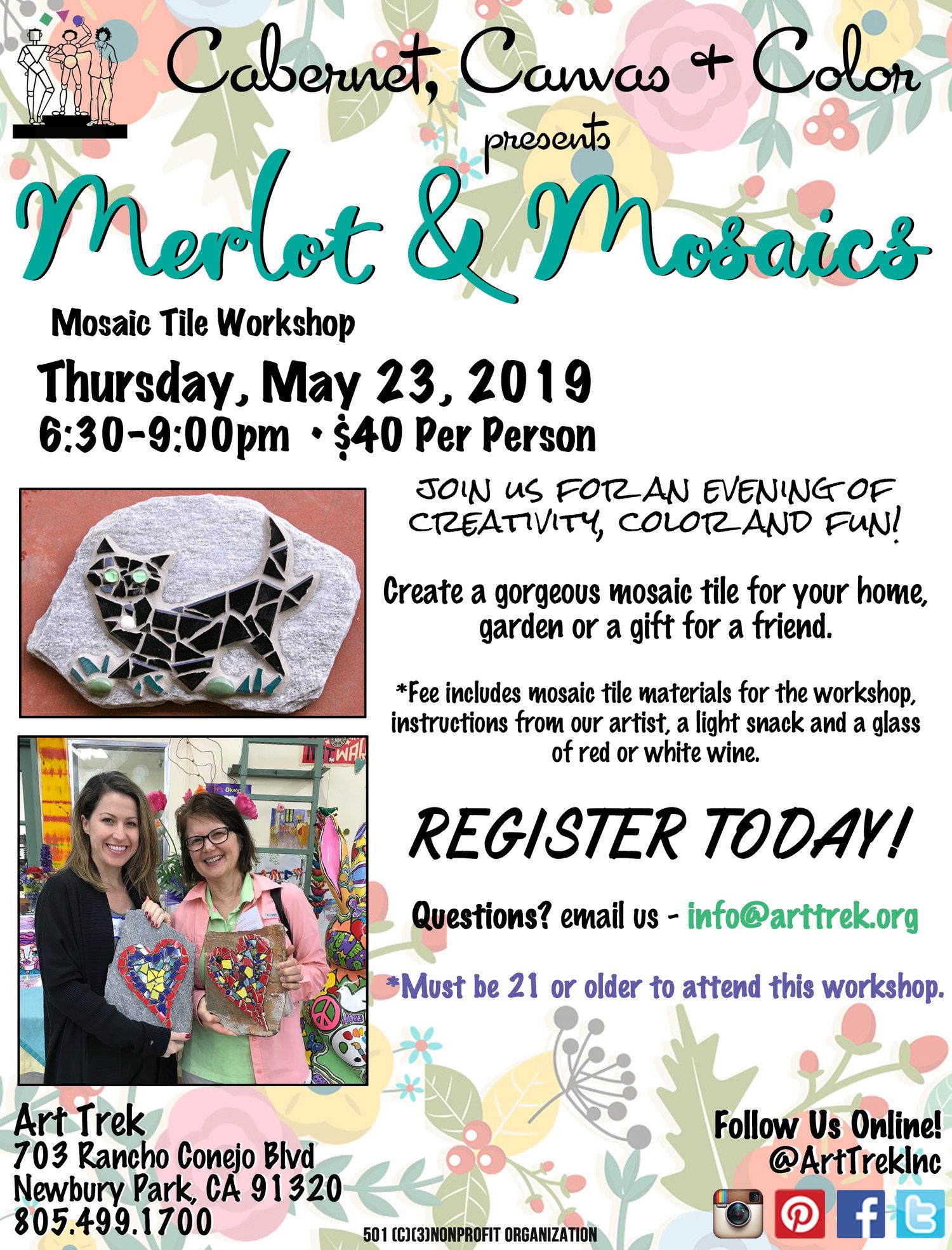 Cabernet, Canvas, and Color presents: Merlot & Mosaics
