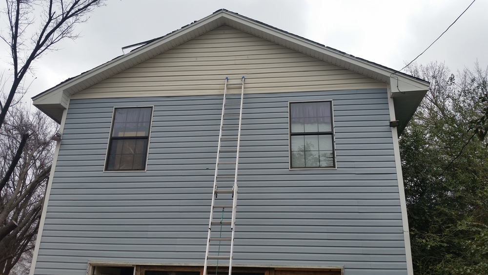 This is all used donated siding to a much needed family