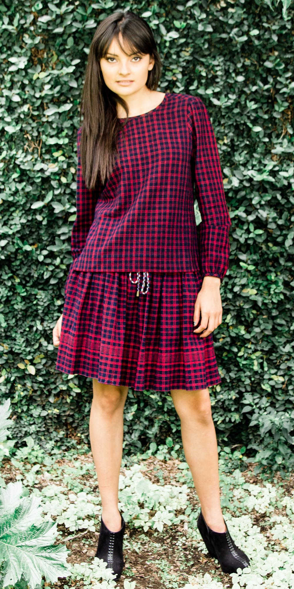 Camino Keyhole Blouse CaminoDrawstring Skirt