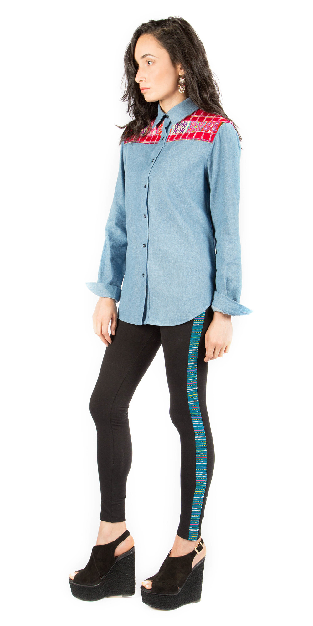 Oeste Yoke Shirt /  Luna Racer Stripe Leggings