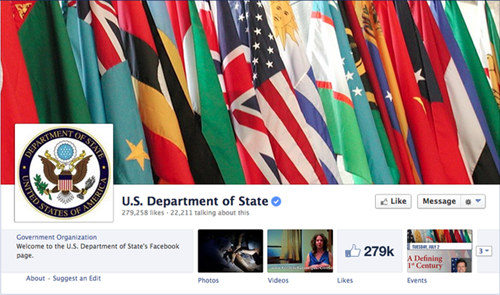 "thedailywhat: Social Media Strategy of the Day: State Department Spent $630,000 on Facebook 'Likes' Now that the whole world knows for certain that American taxpayers' money has been funding the surveillance of citizens and foreign governments, try wrapping your heads around this one: Between 2011 and 2013, U.S. State Department's Bureau of International Information Programs spent $630,000 on racking up Facebook ""likes."" According to a report recently published by The Office of Inspector General, which was prompted after several Department employees filed a complaint about the expenses, the State Department actively maintains four separate Facebook pages, from which they have accumulated more than 2 million likes over the last two years. Wow. Very surprised the state department did his. What was their goal? If it is to inform the public, how would fake likes help? Usually likes are bought to establish credibility. But this is the state department! It's a well known government institution. Also, it seems like they grossly overpaid. I'm just…wow"
