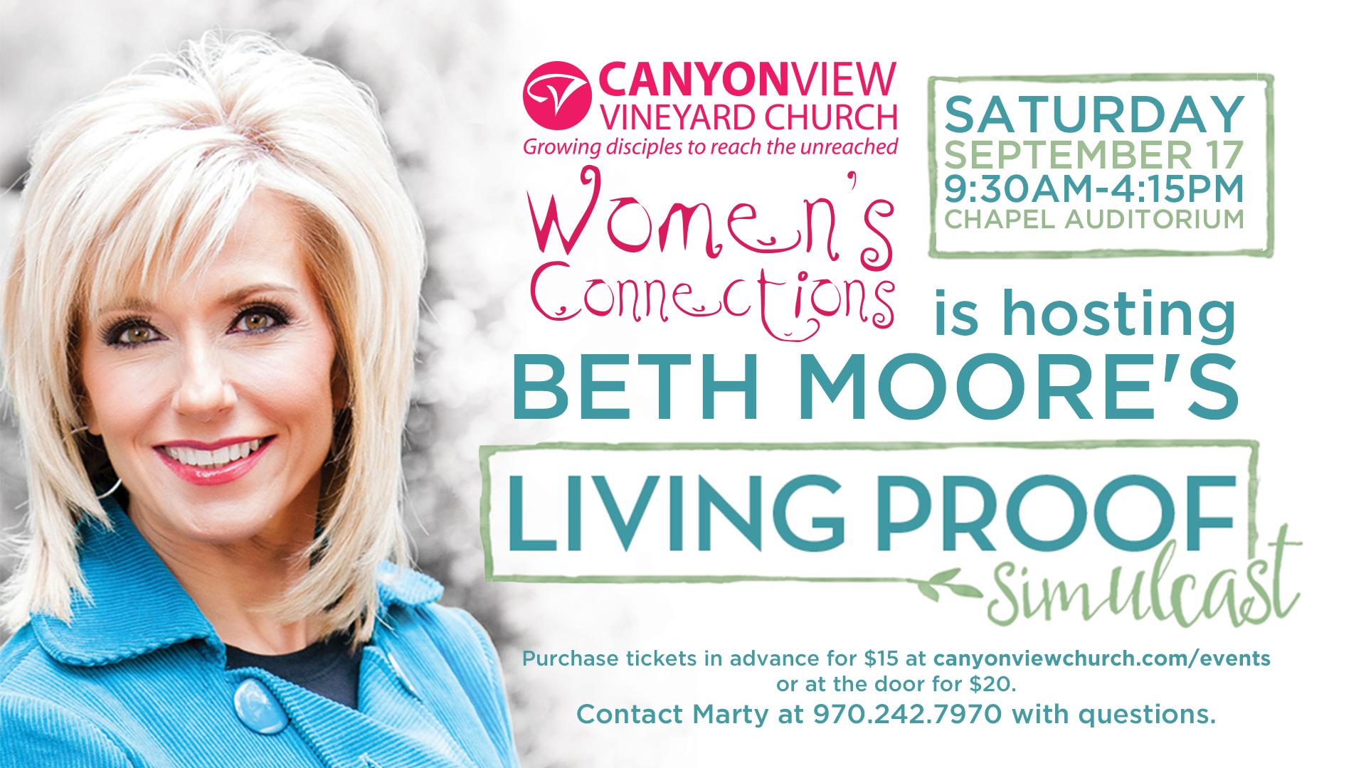 Beth Moore Living Proof Simulcast