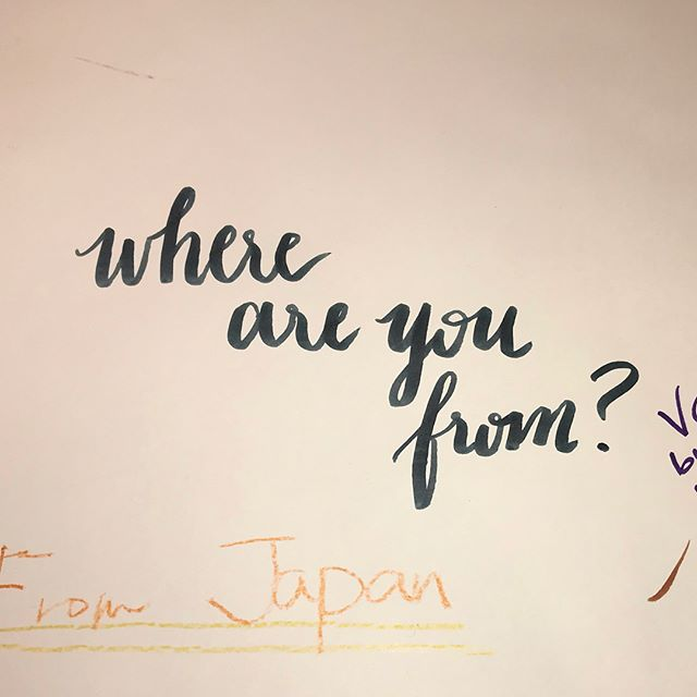 For our MD paper testing event today, we have had visitors from all over the globe! 🌎 #Granvilleisland #stationery #paper #midori #mdpaper #vancouver