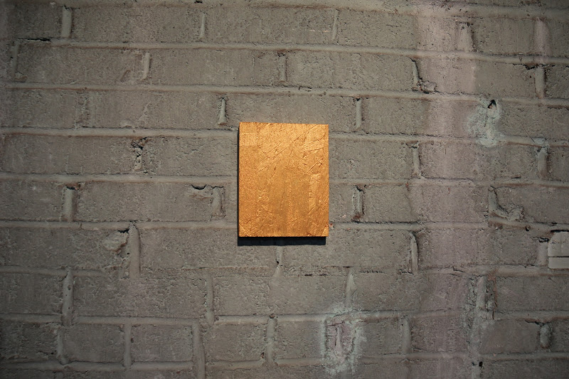 Justyn Hegreberg, Gold Painting Wafer (#1 of Open Edition) 2012, 6.5 x 5.25""